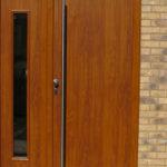 Brown composite doors, Summertown