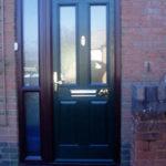 Green composite door, Witney