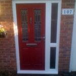 Orange composite door, Kidlington