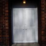 Solid aluminium door, Thame