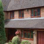 Brown wooden windows, Abingdon