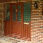 Brown wooden door, Didcot