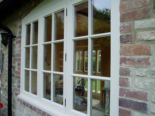 Wooden casement windows, Abingdon