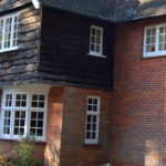 Wooden cottage windows, Didcot