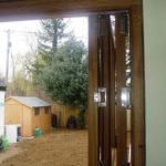 Wooden multi-leaf door, Oxfordshire