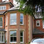 Wooden Victorian windows, Witney