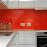 Red kitchen splashback, Grove