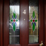 Stained glass front door, Burford