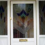 Stained glass front door, Abingdon